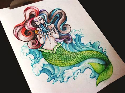 pin up mermaid tattoo designs pisces mermaid www imgkid the image kid has it