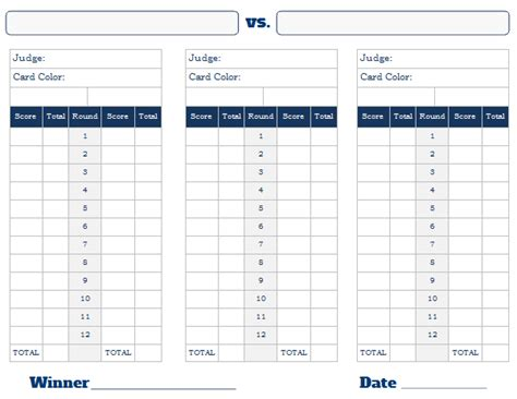 boxing scorecard template boxing scorecard related keywords suggestions boxing