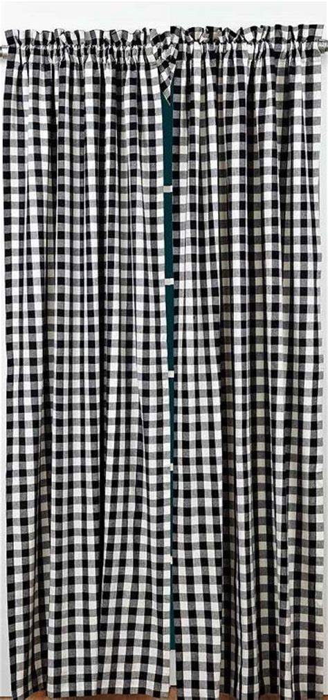 black check curtains buffalo black check curtain panels 2 pc set 84x40 quot white