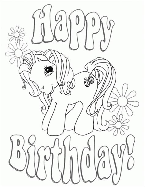 my little pony birthday party coloring pages happy birthday my little pony coloring page free for kids