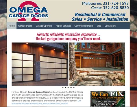 portfolio item omega garage doors home improvement web