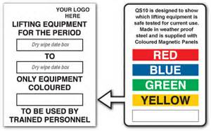 lifting equipment for the period only equipment coloured