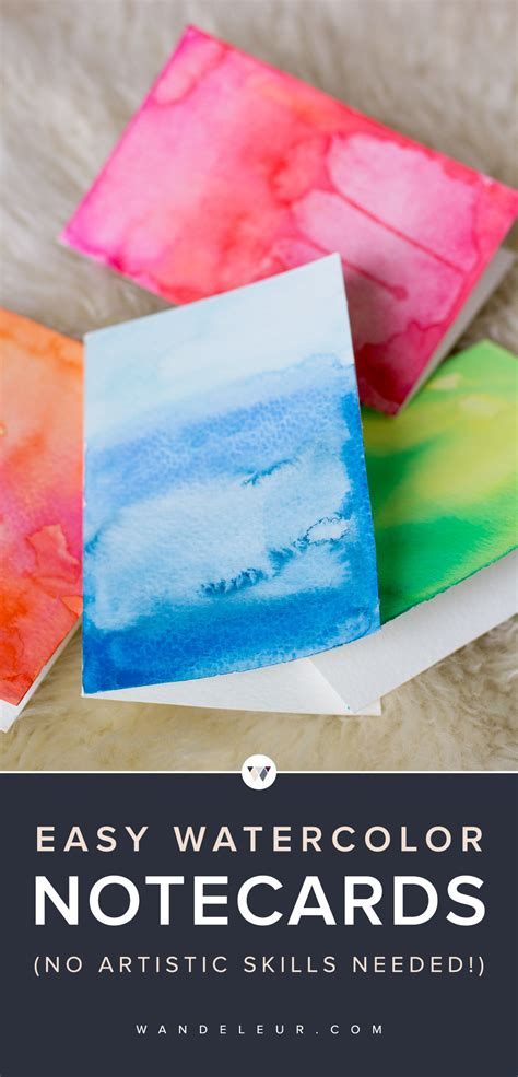 how to make watercolor greeting cards diy watercolor greeting cards wandeleur