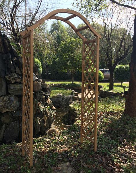 Value Garden Arch Woodside Wooden Garden Arch Ornamental Outdoor Value