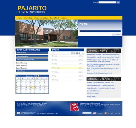 elementary school website pajarito elementary school website launched