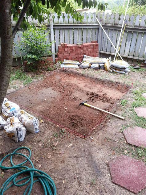 backyard brick patio diy backyard brick patio diy