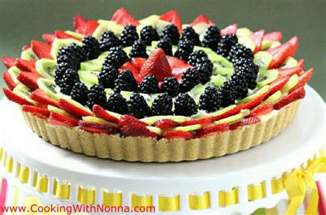 Marguerite Cheese Cookies no bake fruit tart