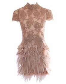 Stylish dresses for women dress with feathers