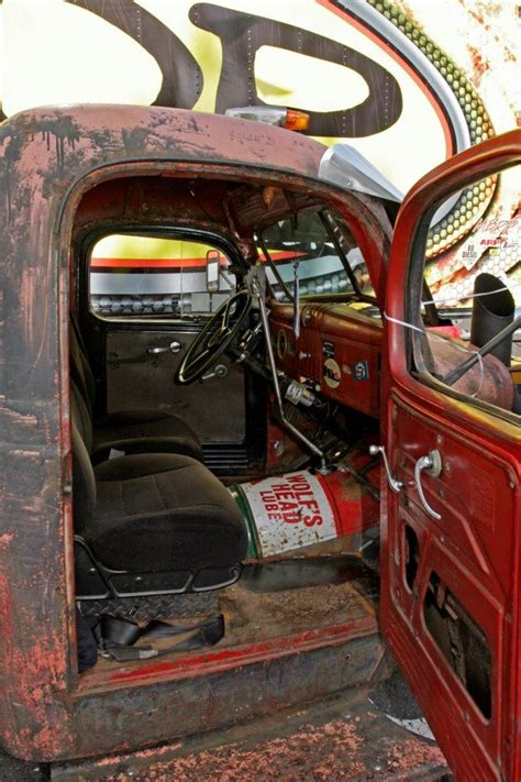 rat rod upholstery interior rat rod truck rat rod interior pinterest