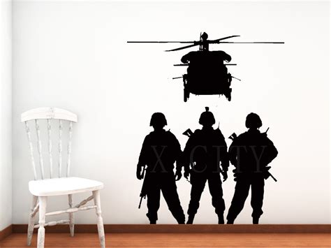army wall decor cool font b b font troops chopper army airforce