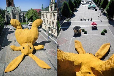 big yellow rabbit florentijn hofman 171 inhabitat green