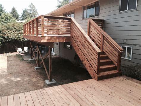 cedar horizontal deck railing doherty house horizontal