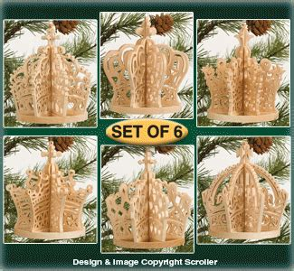 slotted base christmas bulbs religious set of 6 slotted crown ornament designs