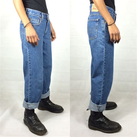 womens light wash levi jeans levi 550 jeans womens high waist vintage 90s relax retruly