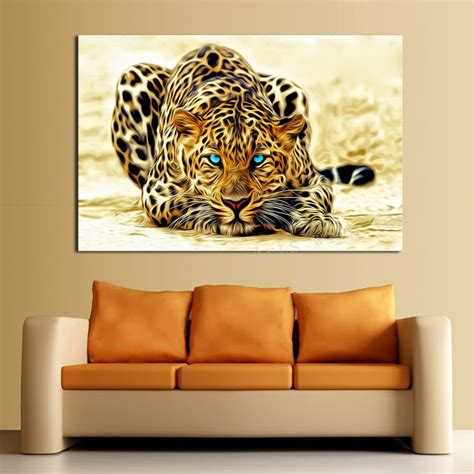 1 picture sell abstract leopard modern home wall