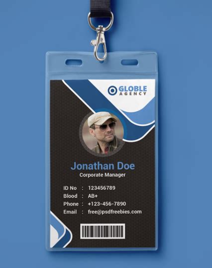 Company Id Card Design Template by 10 Free Employee Id Card Design Templates Mockups