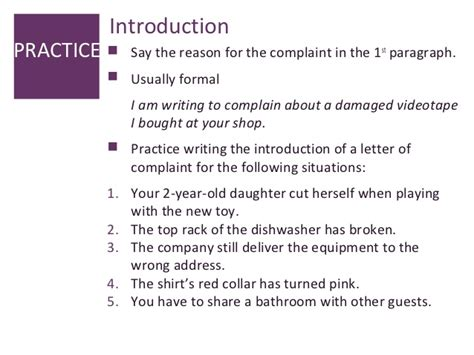 Sle Of A Complaint Letter Against Courier Service Letter Of Complaint