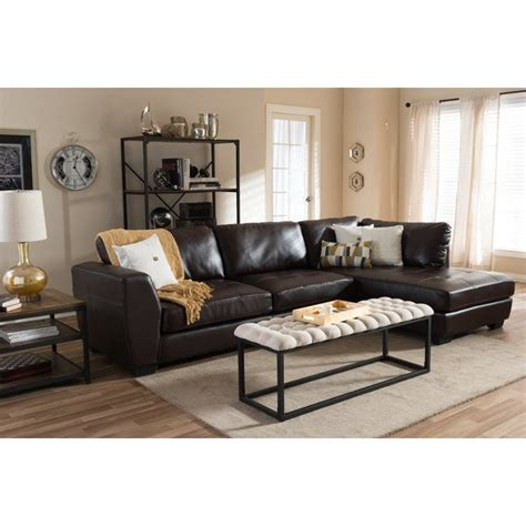 ehrlich sectional en  decoracion muebles oscuros