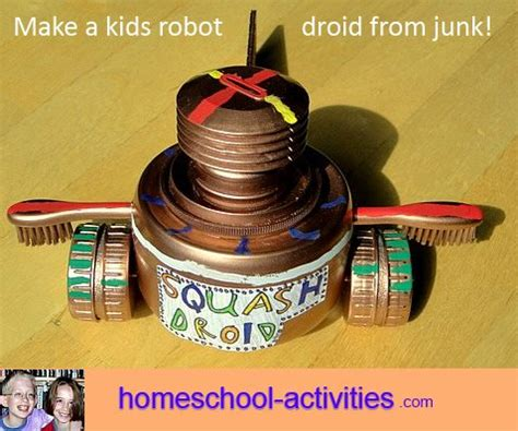 home robotics maker inspired projects for building your own robots books recycled crafts ideas for how to build a robot