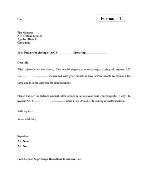 closed credit card template bank current account closing letter format letter of