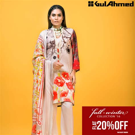 Winter Sale Collections by Gul Ahmad Winter Collection 2017 Sale