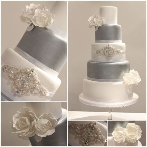 and silver wedding white and silver wedding cakes wedding and bridal inspiration
