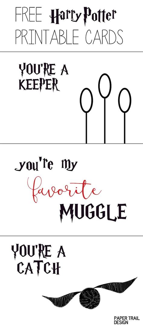harry potter card template free printable harry potter cards free printable harry