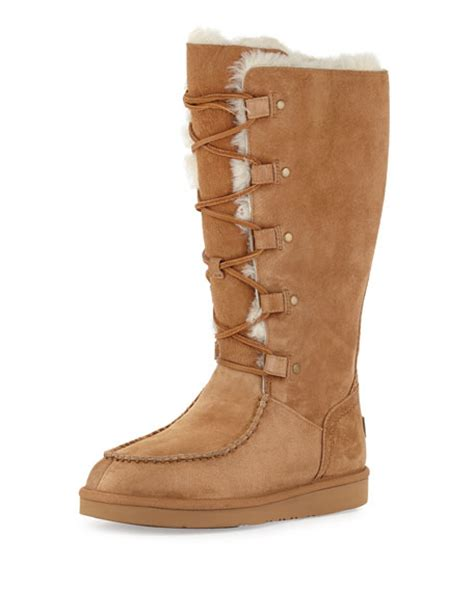 lace up ugg boots ugg appalachin lace up boot chestnut