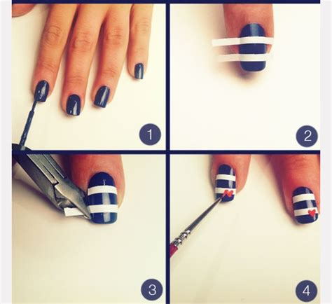 easy nail art designs step by step simple nail art step by step instruction fashionate trends
