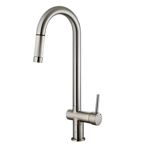 pull faucet vigo gramercy single handle pull kitchen faucet reviews wayfair