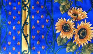 Sunflower Valances French Provence Cafe Curtain Valance Blue Yellow Sunflowers