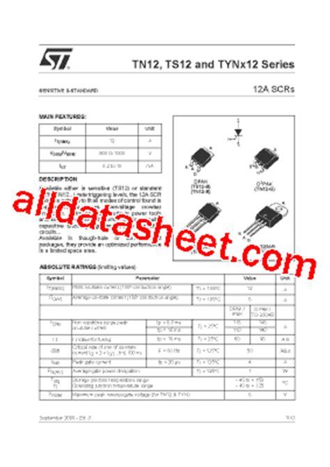 transistor a564 datasheet pdf tyn612 datasheet pdf stmicroelectronics