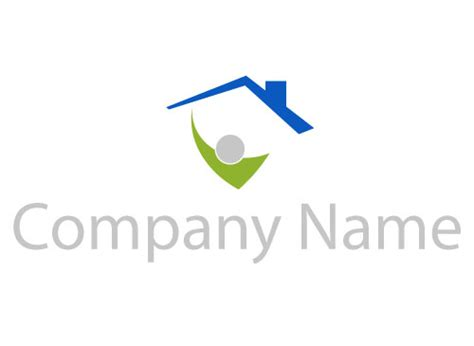 haus logo mensch dach haus logomarket