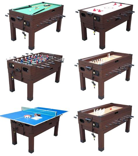 foosball air hockey ping pong combo table 13 in 1 combination table in espresso the danbury
