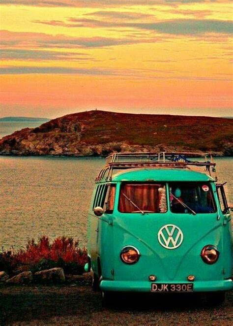 volkswagen bus beach road trip image 2160327 by maria d on favim com