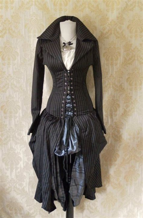 Clocks Ticking Marc Stam And Iphone Giveaway by Pinstripe Steel Boned Bustle Corset Coat Just For 33