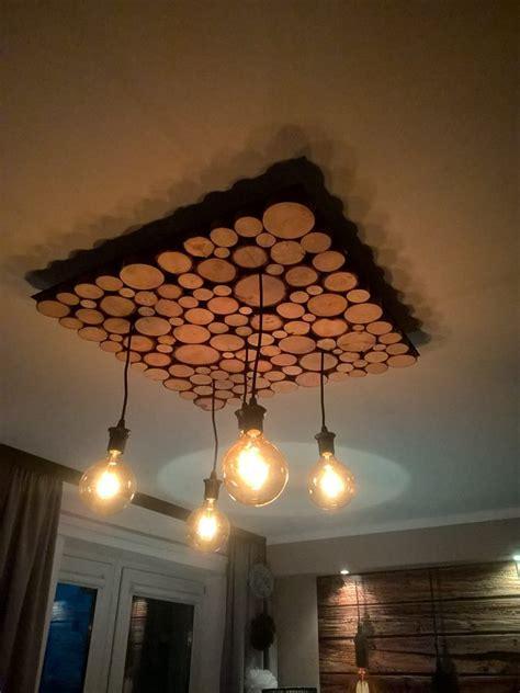 log real wood wall decor panel deco stones