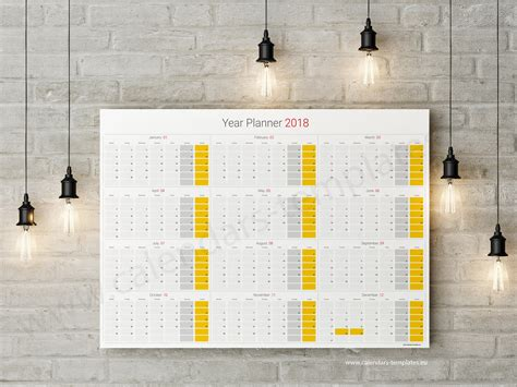 daily planner 2018 yearly wall planner agenda template daily planner 2018 yearly wall planner agenda template