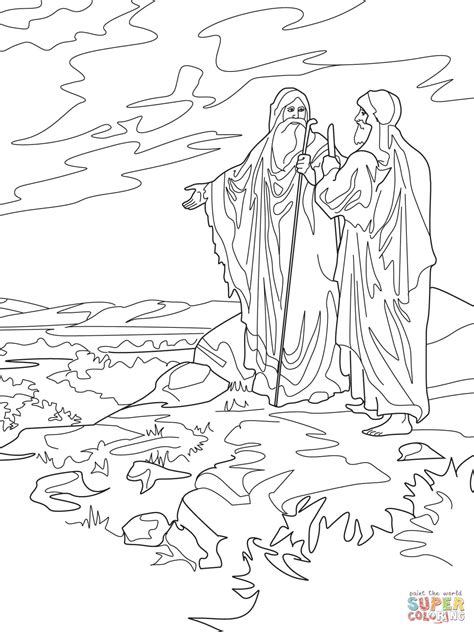 coloring page abraham and lot abraham and lot part ways coloring page free printable