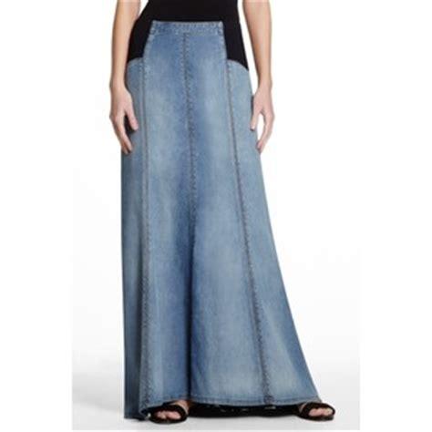 floor length denim skirt on sale at bcbg for 69 was 138
