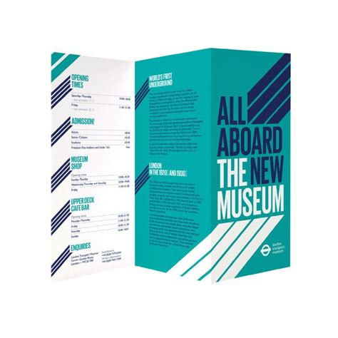 design museum leaflet all aboard the new museum brochure 2 color design