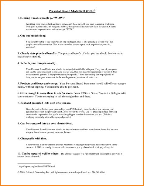 personal brand statement template 9 brand statement exles newborneatingchart