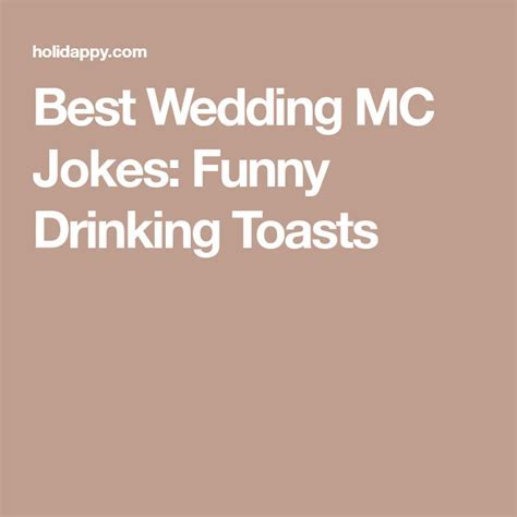 Best Wedding MC Jokes: Funny Drinking Toasts   Mic