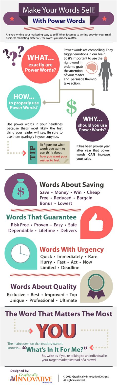small graphic design business from home power words infographic words that sell