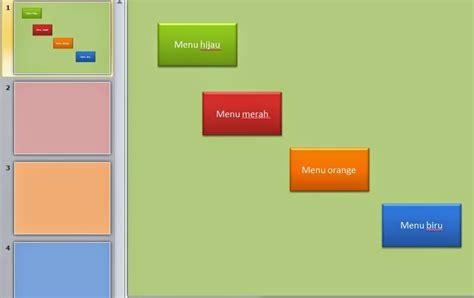 membuat tombol navigasi powerpoint tutorial cara membuat tombol menu navigasi power point