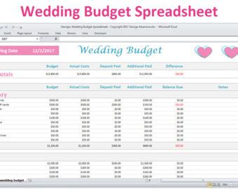 Wedding Budget Australia Template by Wedding Planning Template Pack For Excel