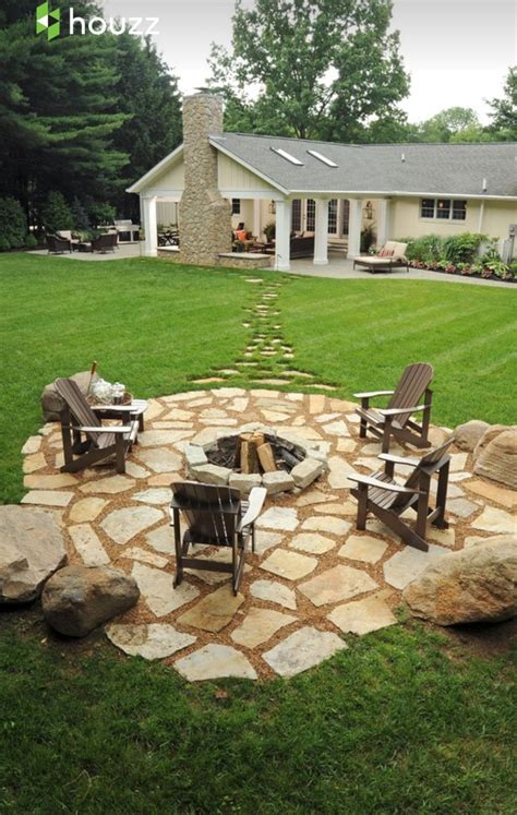 Backyard Fire Pit Design Ideas Pictures Remodel And Decor Backyard Patio Ideas With Pit