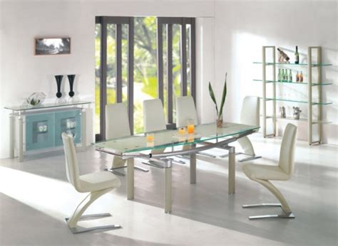 18 Sleek Glass Dining Tables Contemporary Dining Room Tables And Chairs