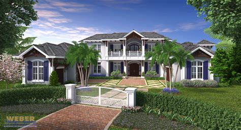 West Indies House Plan Coral Crest House Plan Weber West Indies Style House Plans