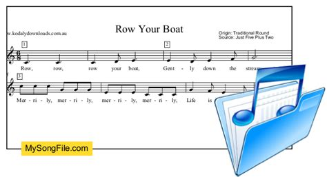 row row row your boat my song file - Row Your Boat Song Origin